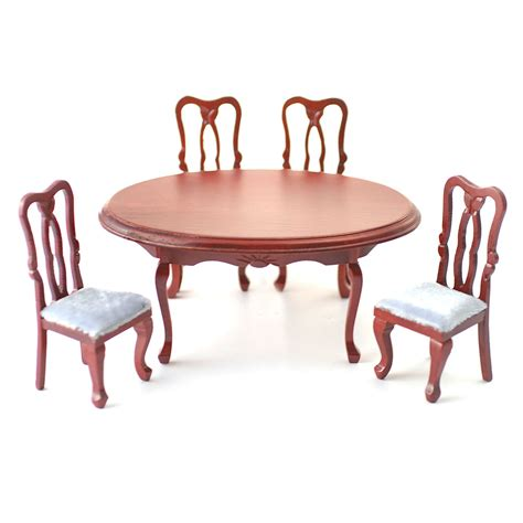 table and four chairs df103 1 12 scale oval dining table and four chairs