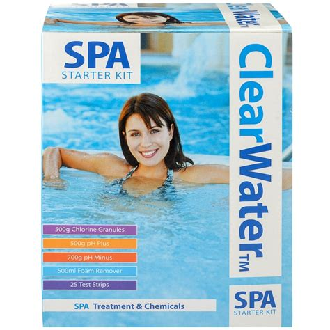 kit starter spa water clear clearwater tub chemicals