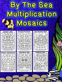 sea multiplication mosaics   images math fact