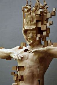 Wood Sculptor Hsu Tung Han's Newest Pixelated Wood Sculpture