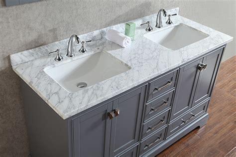 Anele 60 Inch Gray Double Sink Bathroom Vanity Set With Mirror
