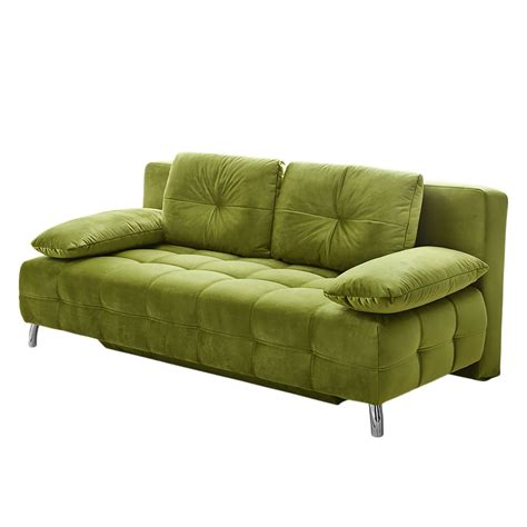 Canap Convertible Vert Canapé Convertible Edmore Velours Vert And
