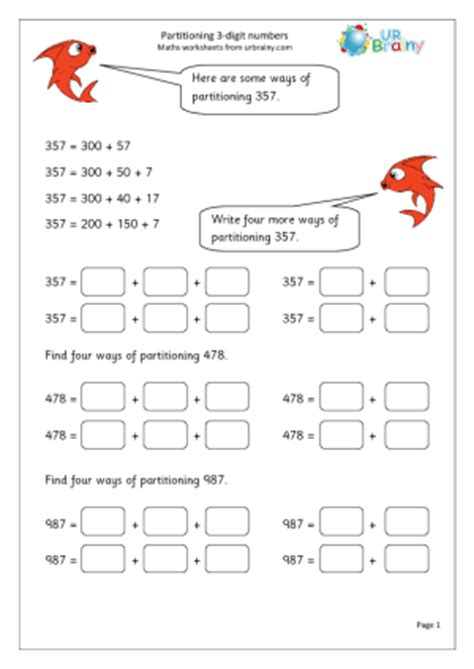 year  partitioning  digit numbers urbrainy