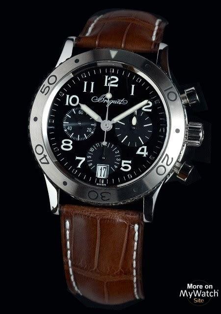breguet type xx  transatlantique type xx sthw steel leather bracelet