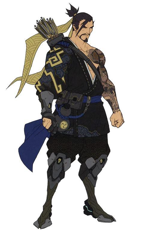 hanzo concept characters art overwatch