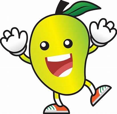 Mango Fruits Clipart Cartoon Eating Child Clip