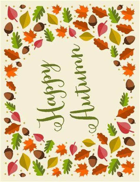 happy autumn decor sign label templates ol
