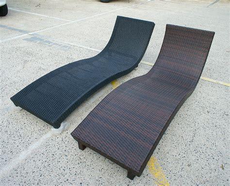 wicker lounge s shape 1 8m sun lounge bed chair