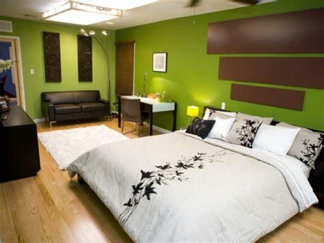 chambre marron et or déco chambre vert et marron
