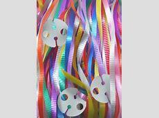 50 x Balloon PreCut Curling Ribbon & Seals Assorted