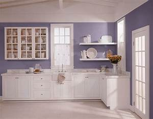 red plus blue equals purple in the kitchen artful kitchens With kitchen colors with white cabinets with gray and purple wall art