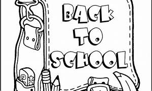 Free coloring pages of back to school