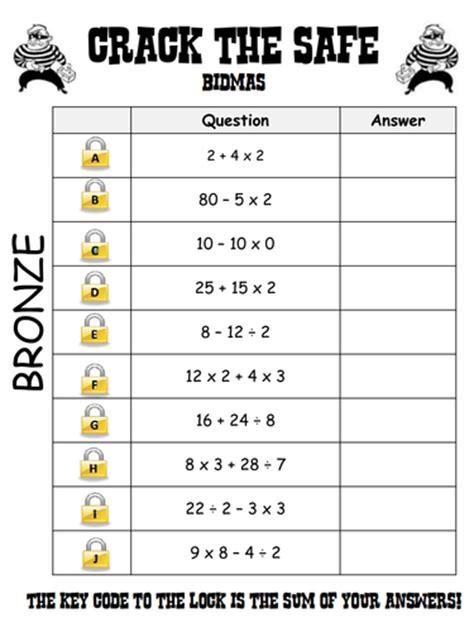 bidmas crack  safe level  grade