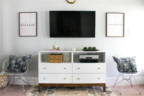 rooms to go console table 7 diy tv stands that hide cable boxes and wires