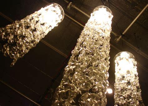 brand s stunning plastic bottle chandelier
