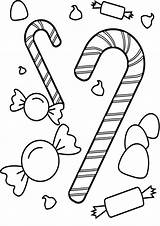 Coloring Candy Printable Tulamama Cane Apple Heart Halloween sketch template