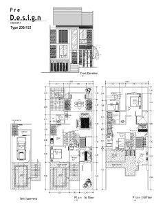 contoh denah desain rumah  lantai type  denah rumah