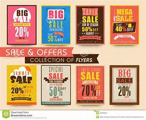 Sale Poster, Banner Or Flyer Collection. Stock ...