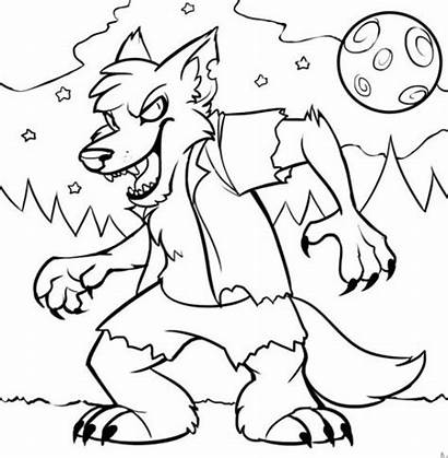 Halloween Coloring Pages Spooky Monster Monsters Hallowen