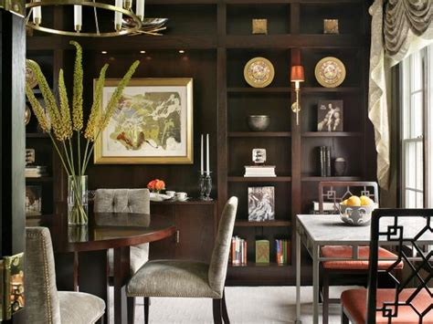 Bookcase In Dining Room by Dining Room With Custom Bookcases Hgtv