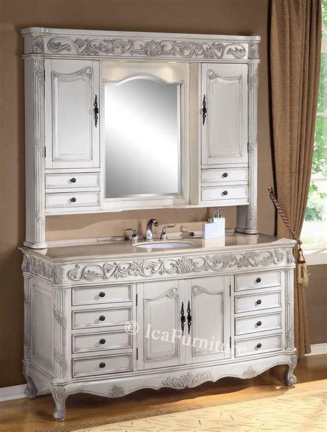 single vanity  creamrose marble top  hutch