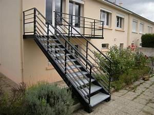 Escalier Exterieur Metal : escalier bois m tal brest guipavas plougastel daoulas ~ Voncanada.com Idées de Décoration