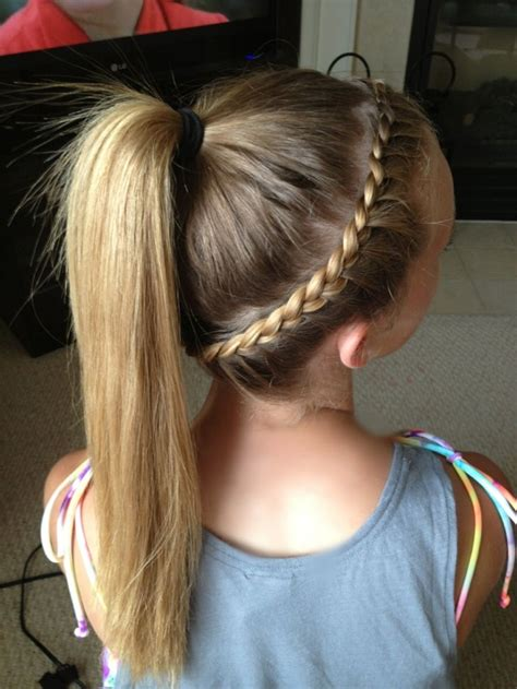 French Braid Around Head Into A Pony Tail Hair