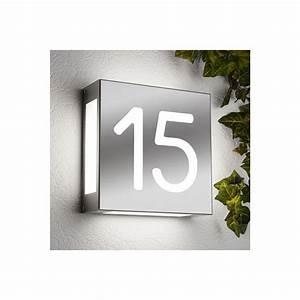 Numéro De Maison Design : num ro de maison lumineux aqualegendo avec ou sans ~ Premium-room.com Idées de Décoration