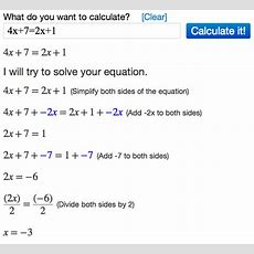 Solving Equations Using Algebra Calculator Mathpapa