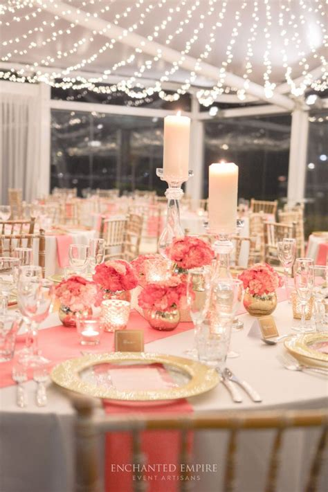 Coral Wedding Decorations by Best 25 Coral Gold Weddings Ideas On Coral