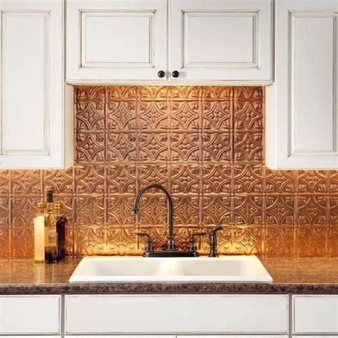 copper kitchen backsplash 27 trendy and chic copper kitchen backsplashes digsdigs