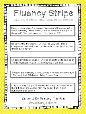 fluency strips an activity to teach reading fluently and