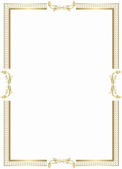 Border Transparent Frame Clip Clipart Elegant Decorative