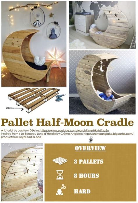 diy  pallet  moon cradle  pallets