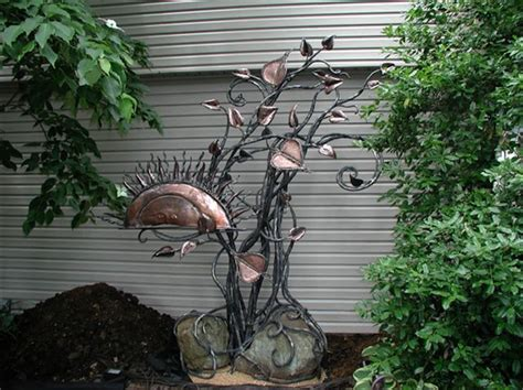 Contemporary, Wrought Iron And Garden Sculptures