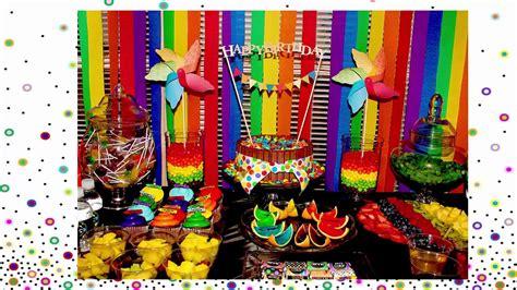 como hacer una fiesta de cumpleanos tematica de arcoiris