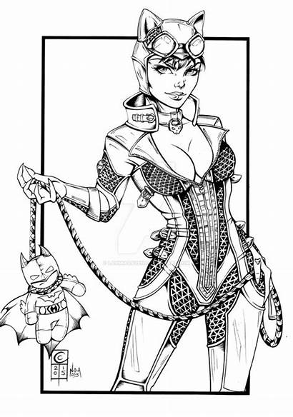 Deviantart Coloring Catwoman Pages Steampunk Cheetah Superhero