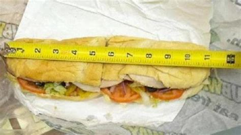 Subway Missing An Inch In Footlong