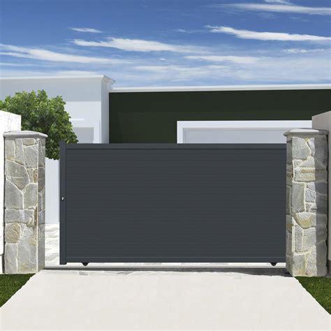 cours de cuisine alsace portail coulissant aluminium rioave gris l 350 cm x h 180 cm x h 180 cm leroy merlin
