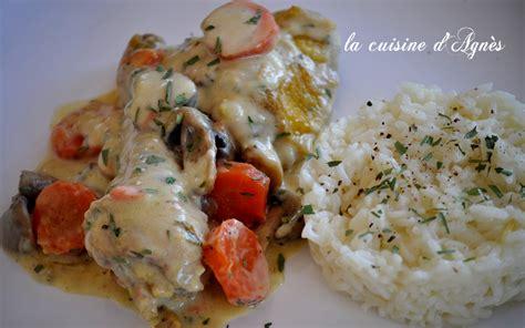 cuisiner une cuisse de poulet blanquette de poulet à l 39 estragon de oliver la