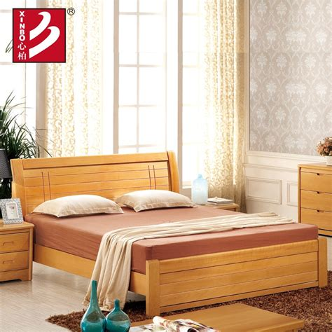 wooden home furniturebeech wood bedbedroom setsdouble
