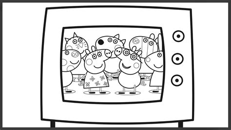 Peppa Pig Tv Friends Coloring Book Pages Art Colours For