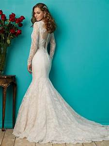 long sleeve lace mermaid wedding dress awesome wedding With wedding dress with long lace sleeves