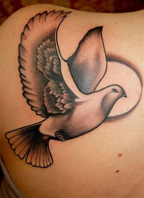 impressive  peaceful dove tattoo designs