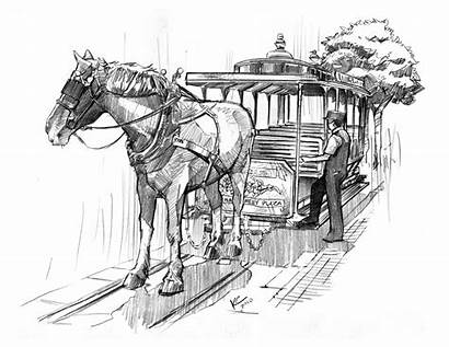 Disneyland Carriage Sketch Mainstreet Character