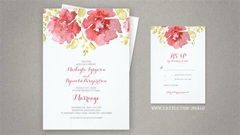 read  watercolor floral wedding invitations