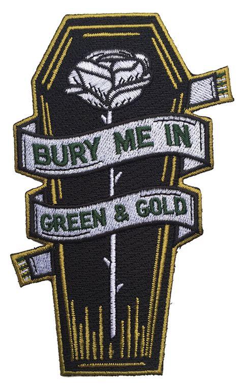 bury   green  gold coffin ptfc patch patrol