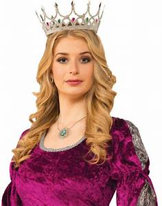 Adult Silver Royal Queen Crown - Accessories & Makeup
