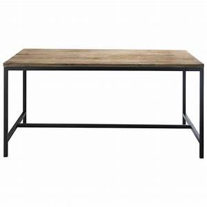 Table En Metal : table de salle manger indus en bois massif et m tal l 150 cm long island maisons du monde ~ Teatrodelosmanantiales.com Idées de Décoration