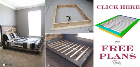 easy diy platform bed  plan home design garden